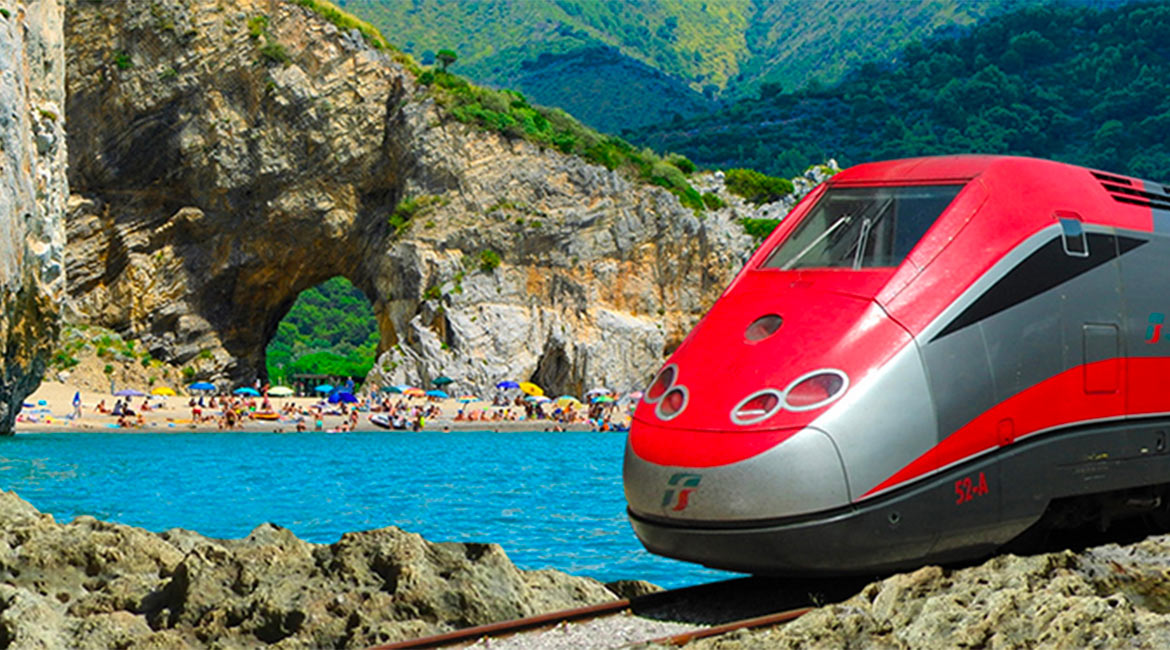 Frecciarossa takes you to the Cilento